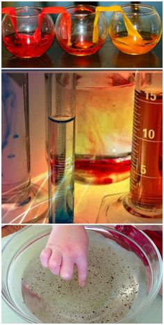 Fun Science Experiments for Kids- water transfer, surface tension, magic potions, rainbow science, and more!
