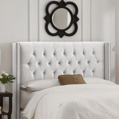 Linnea Tufted Headboard III - I want to try this studded look with my DIY headboard tutorial!