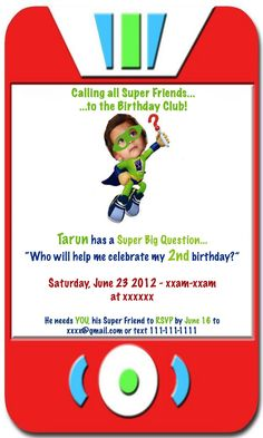 Super Why Party Invite (Photoshopped!)