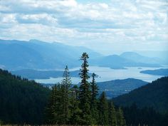 schweitzer mountain and lake pend oreille. sandpoint, idaho.