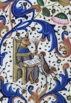 Biblioteca Nacional de España, Cod. Vitr. 24-2, detail of f. 69r. Libro de horas de Leonor de la Vega. Bruges, c. 1465-70. Artist: Willem Vrelant.
