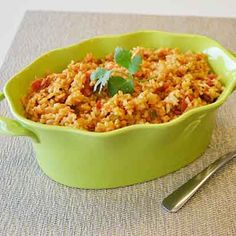 Traditional Spanish rice with extra flavor creates a classic side dish.