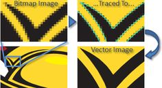 Bitmap Image Traced To Vector Image
