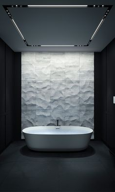 Minimalist masculine bathroom in black and white BATHROOM   KERZMAN #marble #minimalist #shadows