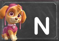 Alfabeto de Skie de Paw Patrol o Patrulla Canina.