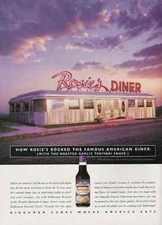 Streamlined Stainless Rosies Diner Rockford Michigan Kikkoman Teriyakin 1998 Ad
