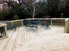 This spacious wood deck was custom designed and built by Lake Zurich, IL wood deck designer, Archadeck of Chicagoland.