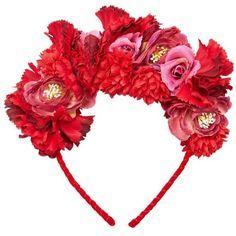 MANGO Flower Hairband ($40) ❤ liked on Polyvore featuring accessories, hair accessories, hair band accessories, head wrap headband, flower headwrap, flower headbands and flower hair accessories