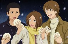 Tags: Anime, Kimi ni Todoke, Yoshida Chizuru, Sanada Ryuu, Sanada Tooru, Bun (Food)