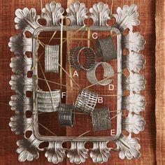 ROOST Jewelry Maya Cuffs Silver 6 Styles; jewelry display