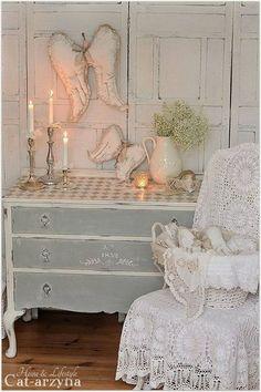 shabby chic stil wohnzimmer einrichten rustikaler couchtisch | mit, Wohnzimmer