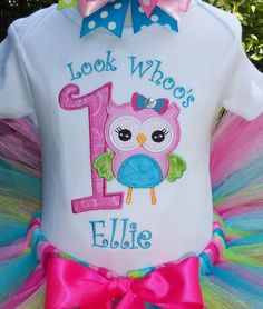 """""""Look Whoo's One Owl 1st Birthday outfit..."""" Party outfit by OMG2Cute"""