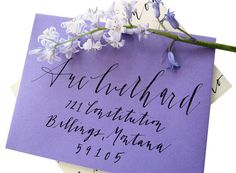 Free Flowing Calligraphy for Addressing Envelopes via Etsy