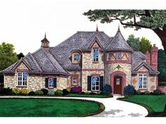French Country , 4 Bedroom , 2 Story