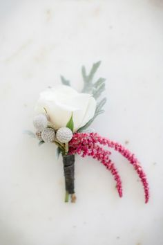 A sweet + simple boutonniere. Photography by theomilophotography.com, Planning Design by cometogetherevents.com, Floral Design by bloom-room.com