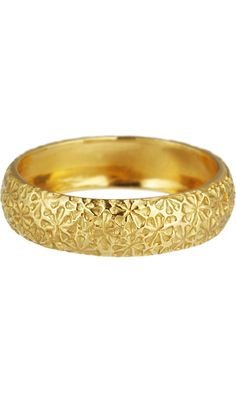 Cathy Waterman Gold Textured Flower Band