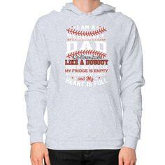 Baseball dad Hoodie (on man)
