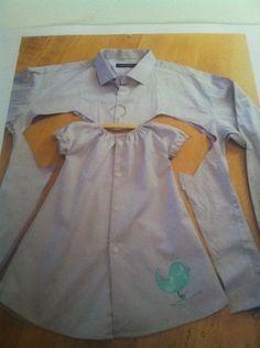 Dress made from Dad/Grandpa's shirt!!