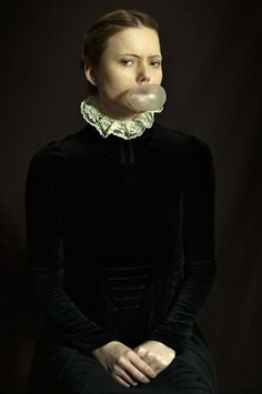 """""""How would have been?"""" Romina Russia. Another revisitation of the typical Renaissance portrait."""