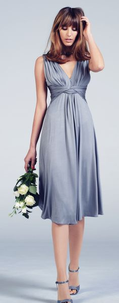 Aria Dress in Pewter by Phase Eight, I'd love it more for my bridesmaids if it was longer
