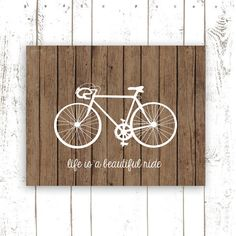 Bicycle Art Print with Quote  Life is a by MooseberryPrintShop, $18.00