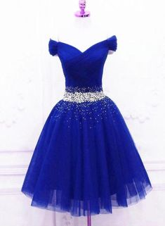beautypartydresses: Lovely Blue Tulle Off Shoulder Short Prom… beautypartydresses: Lovely Blue Tulle Off Shoulder Short Prom Dress, Homecoming Dress Homecoming Dresses Tight, Pretty Prom Dresses, Prom Dresses 2016, Gala Dresses, Prom Dresses Blue, Evening Dresses, Party Wear Indian Dresses, Indian Fashion Dresses, Party Dresses For Women