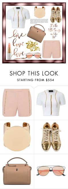 """""""Shorts"""" by sukia ❤ liked on Polyvore featuring Elie Saab, Givenchy, Christian Louboutin, Fendi and MAC Cosmetics"""