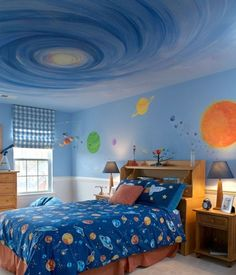 space themed bedrooms for kids | space and space science is the eternal topic that leaves in awe and a ...