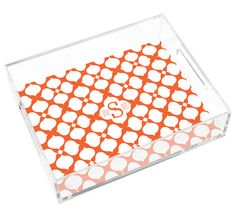 Personalized Hollywood Small Lucite Tray by Jonathan Adler