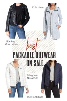 "If there's one word we're all about here at TFG, it's ""packable,"" and the holy grail of packability comes down to outerwear. Check out some of our favorite packable jackets below, many of which are waterproof and on sale at Nordstrom Anniversary Sale Early Access! Click through to find out our top travel picks before they sell out!! #TravelFashionGirl #TravelFashion #Nordstromanniversary #nsale #packableoutwear #puffjacket #traveljacket"