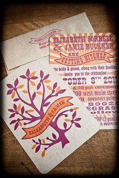 Wedding invitation by Hounddog Press