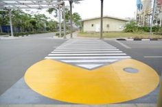 """The first reports of the """"Pac man"""" video triggering seizures in the United States is in Two Rochester,Minnesota boys have seizures triggered by the video game. Pedestrian zebra stripe crossings can trigger pattern sensitive seizures. Pac Man Videos, Rochester Minnesota, Pedestrian Crossing, Makati City, Seizures, Epilepsy, Best Places To Travel, Urban Planning, Pavement"""