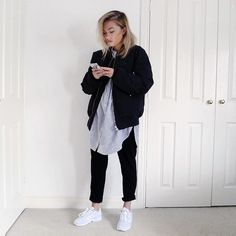 Fashion blogger Charlotte Martin showing us how to rock a pair of white adidas Originals Womens ZX Flux