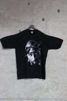 Tupac shirt vintage 2pac black 90s vintage rap by imtryingtofocus