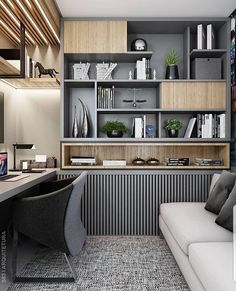 45 Perfect Home Office Space Design Ideas Will Inspire You – Modern Home Office Design Small Space Interior Design, House Interior, Home Office Design, Modern Office Interiors, Study Room Design, Office Interior Design, Home Interior Design, Trendy Home, Office Design