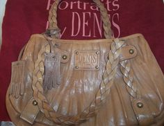 DENTS TAN 100% LEATHER SHOULDER BAG WITH DUSTBAG & DOUBLE LEATHER GLOVES FOB #Dents #ShoulderBags