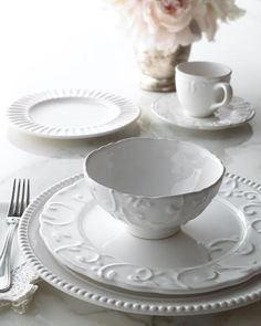 """Only at Kensho Home: Only Here. Only Ours. Exclusively for You. - Earthenware dinnerware. - Mixed textures and patterns. - Service for four includes 10.75""""Dia. dinner plates, 8.5""""Dia. salad plates, 6"""""""