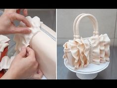 Ruffle Handbag Cake . How To by CakesStepbyStep - YouTube