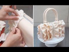 Ruffle Handbag Cake . How To by CakesStepbyStep - YouTube