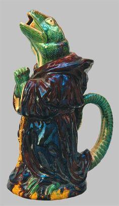 Jarro Lagarto Manuel Mafra séc. XIX Museu de Cerâmica das Caldas da Rainha, MC 2038