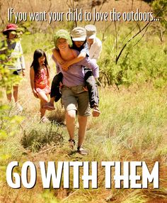 Fresh air, quality family time and encouraging a love of nature.... what a great gift to give your kids.