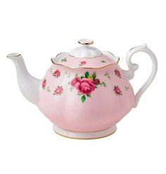 Royal Albert New Country Roses Pink Formal Vintage Teapot