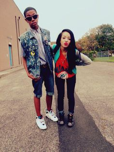j's, shirt, varsity jacket, so cute. Dope Fashion, Urban Fashion, Teen Fashion, Runway Fashion, Fashion Outfits, Fashion Trends, Dope Couples, Swag Couples, Cutest Couples