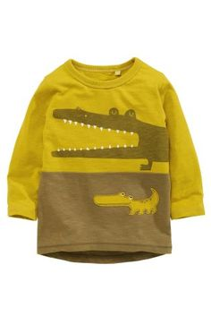 Buy Green Crocodile Long Sleeve T-Shirt (3mths-6yrs) from the Next UK  online shop 335e42506fa