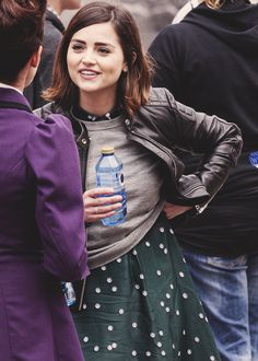 Jenna Coleman on set for Doctor Who in Tenerife, Spain.