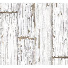 Papier peint parquet blanc vintage, deco design