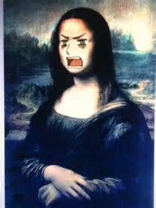 I laughed and internally screamed. I love old paintings and Mona Lisa is one if them. Now it's Mona Ludwig
