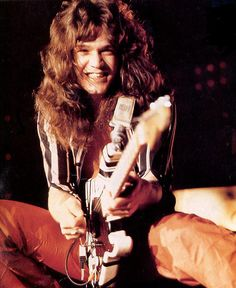 Eddie Van Halen - Second to only Jimi Hendrix, Eddie Van Halen was undoubtedly one of the most influential, original, and talented rock guitarists of the century. Eddie Van Halen, Alex Van Halen, Blues Rock, Rock Roll, Rock Music, My Music, Early Music, Heavy Metal, Heavy Rock