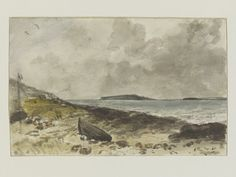 Coast scene near Osmington, with Portland Island in the distance, John Constable, 1816