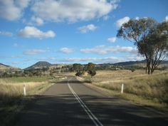 Country road from Nundle, NSW.